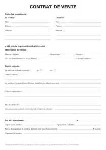 Vente Meuble Occasion Entre Particulier by Acl Contrat De Vente
