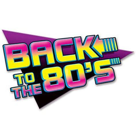 Back To The 80's Sign 61cm