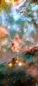 Space image: Carina Nebula pink blue and yellow pastel ...