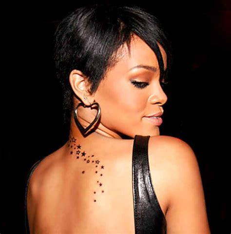 Tatouage Rihanna, Tattoo Nuque De Rihanna, Tattoos Hanche