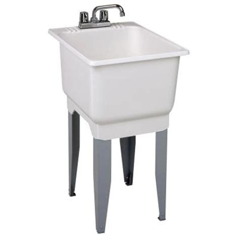 18 wide utility sink mustee 18 in x 23 5 in plastic laundry tub 12c the