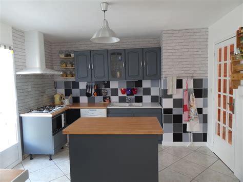 v33 meuble cuisine best cuisine repeinte en gris v33 pictures matkin info