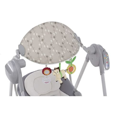 polly swing up chicco chicco polly swing up silver huśtawka