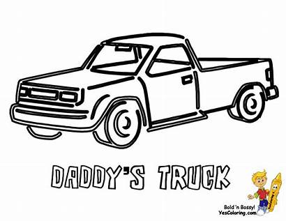 Coloring Truck Pickup Yescoloring Trucks Easy Foreign