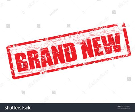 Brand New Grunge Rubber Stamp Stock Vector 53954314