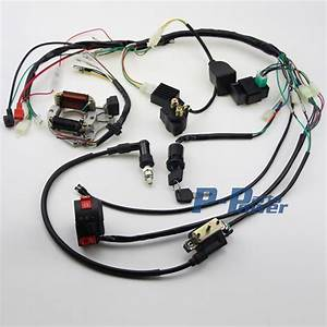 50cc 70 90cc 110cc 125cc Wire Loom Wiring Harness Cdi Assembly Atv Quad Coolster