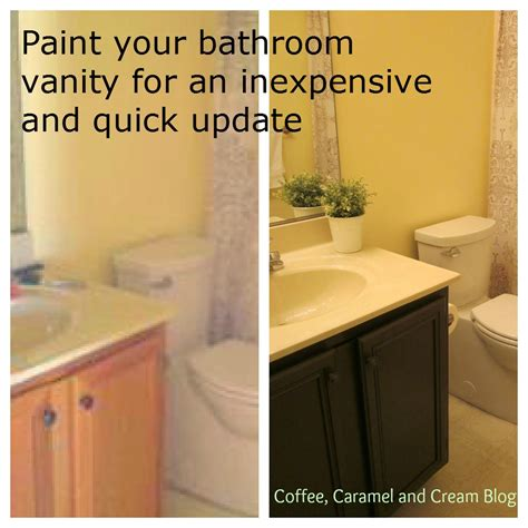 Kitchen Cabinet Stain Ideas - coffee caramel cream how to paint your bathroom vanity
