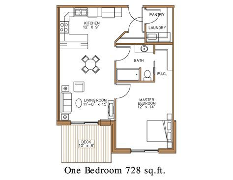 one bedroom apartment plans and designs floor plan at northview apartment homes in detroit lakes
