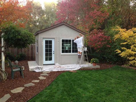 yard shed to business with this backyard office tuff shed