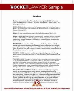 farm lease agreement template farm lease form with sample With farm partnership agreement template