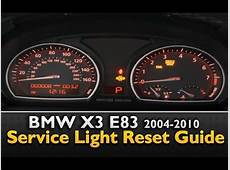 BMW X3 Service Light Reset YouTube