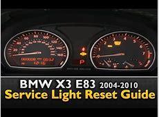 BMW X3 Service Light Reset YouTube
