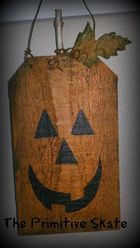 primitive skate repurposing edging  pumpkins