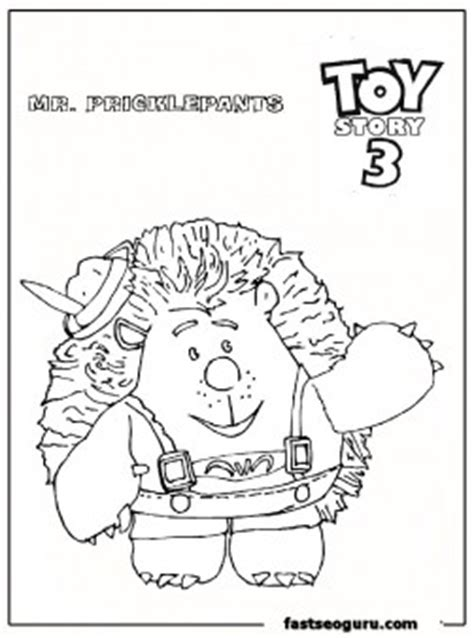 pricklepants toy story  coloring pages  print