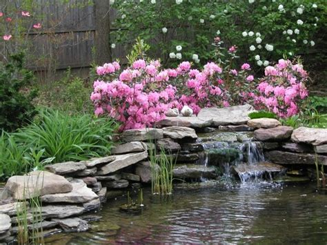 landscape ponds garden pond with waterfall and custom landscaping