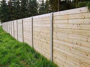 Prix D Une Cloture : prix d 39 une cloture de jardin en bois et beton maison en ~ Dailycaller-alerts.com Idées de Décoration