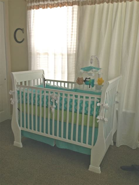 turquoise and green crib bedding nursery pinterest