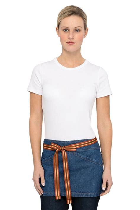 blue denim waist apron