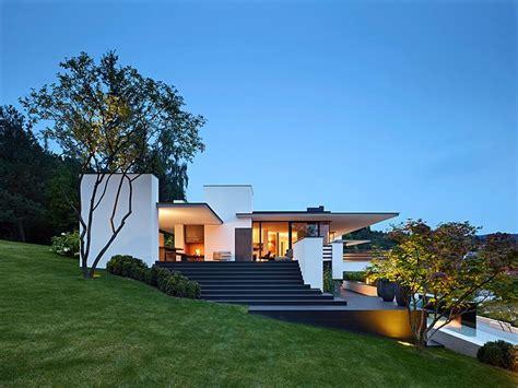 architektenhaeuser flachdach villa  hang schoener wohnen