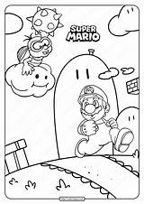 Mario Coloring Printable Games Tweet Whatsapp sketch template