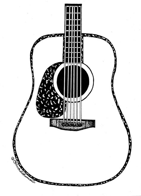 Images Of Acoustic Guitar Drawing Design Golfclub