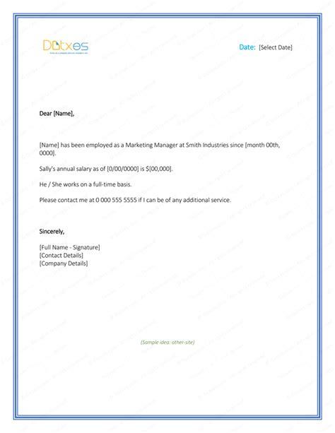 employment verification letter template word employment verification letter 4 printable formats