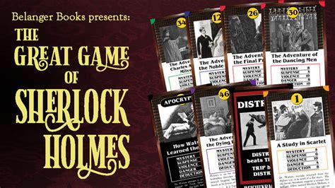 holmes sherlock game introducing belanger readings books kickstarter august