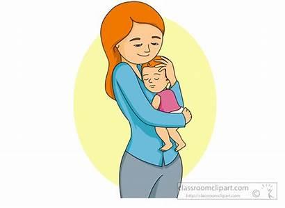 Mother Clipart Holding Head Shoulder Clip Child