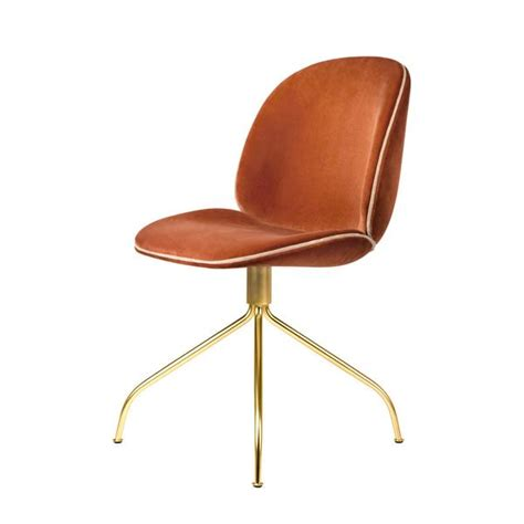 Accent Chair For Living Room by Gubi Beetle Chair Swivel Base Fully Upholstered By