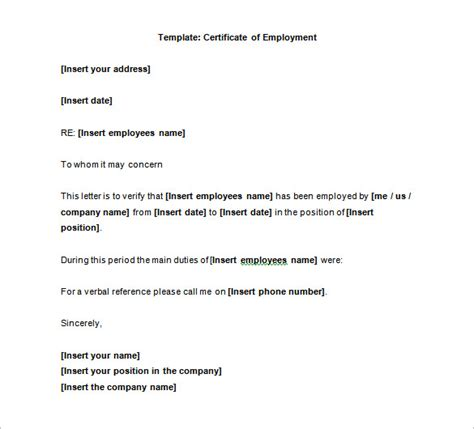 sample letters  experience certificate fresh job