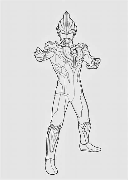 Ultraman Mewarnai Gambar Sketsa Geed Coloring Orb