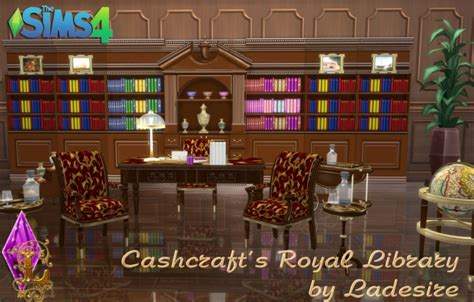 cashcrafts royal library  ladesire sims  updates