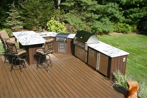 designing outdoor kitchens professional deck builder