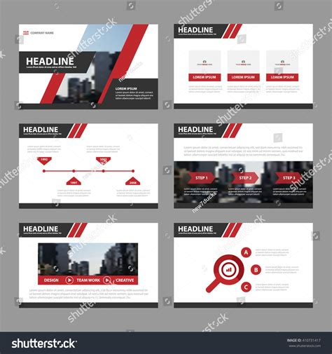 slides brochure template black presentation templates infographic elements stock vector 410731417