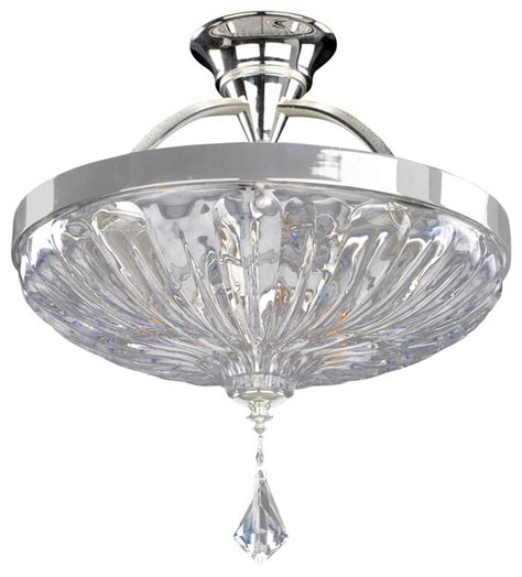 clearly modern semi flush ceiling light orecchini 16 quot semi flush firenze clear modern flush