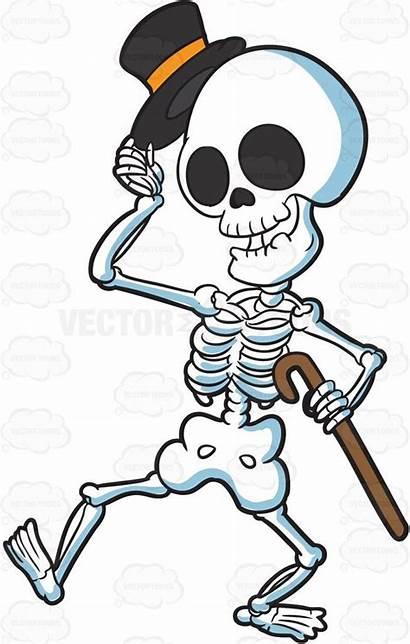 Skeleton Cartoon Clipart Costume Halloween Vector Refined