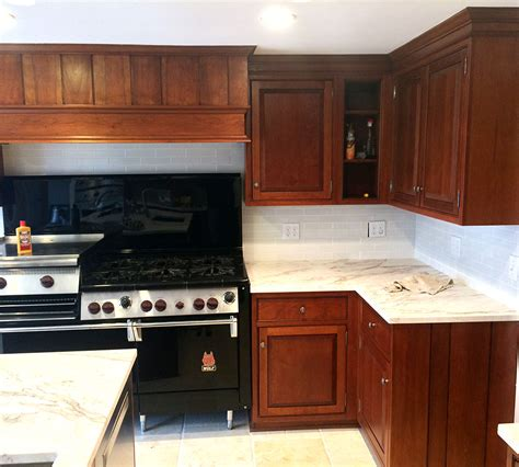 cherry cabinets refinishing project gallery classic