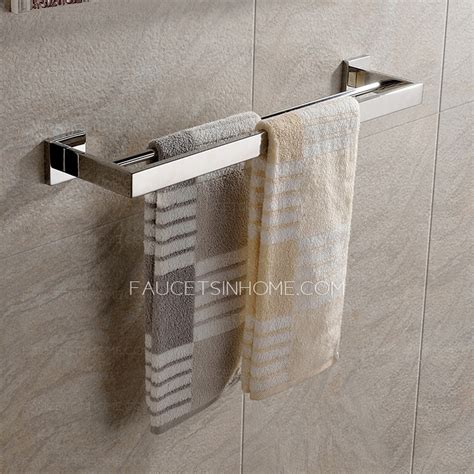 double towel bars  stainless steel