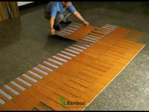How to install quick lock bamboo flooring youtube for Installing click lock flooring