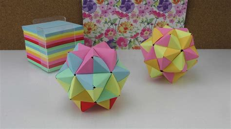 origami stern modulares origami anleitung  stern aus