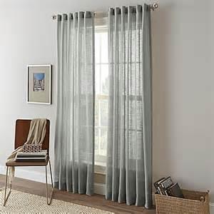 shimmer sheer rod pocket window curtain panel bed bath