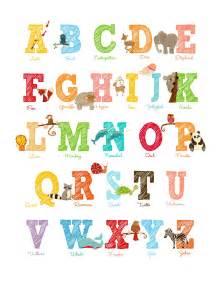 Large Size Alphabet Letter Print