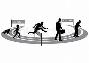 Stages Of Human Development Stylized Treadmill With