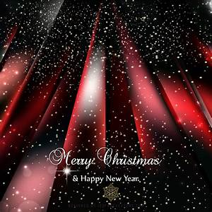 Red Black Sparkles Christmas Background Template