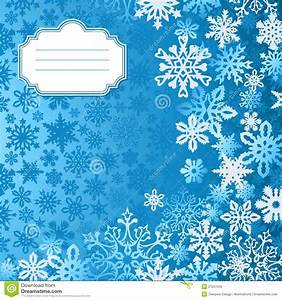 Blue Christmas Snowflakes Background Greeting Card Stock ...