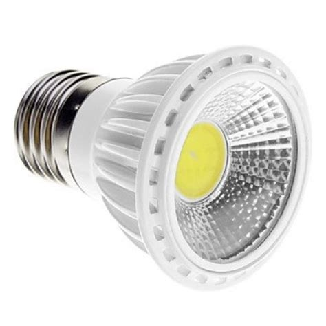 dimmable e27 5w cob 450 480lm 6000k cool white light led spot bulb