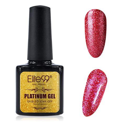 uv l nail polish elite99 platinum uv led gel nail polish glitter uk stock