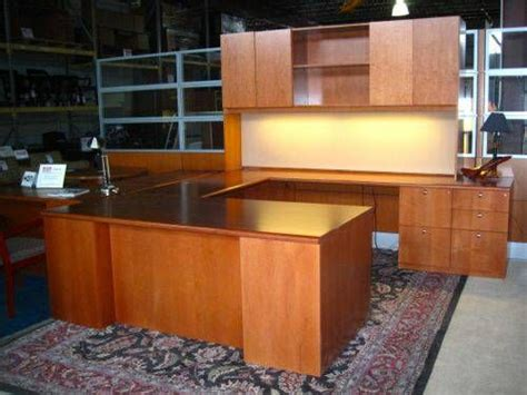 u shaped executive desk with hutch executive tuohy u shaped desk with credenza hutch in