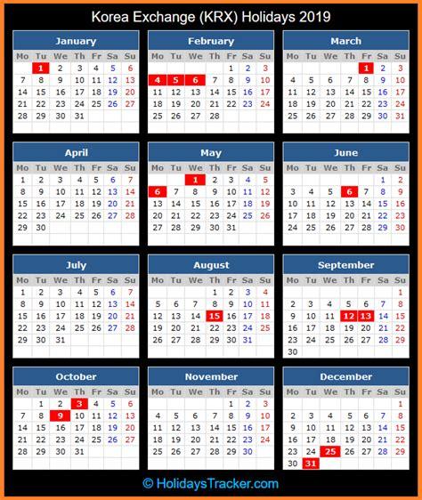 korea exchange krx holidays holidays tracker