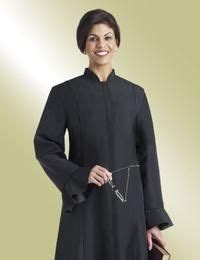flaired cuffs womens black clergy robe christian